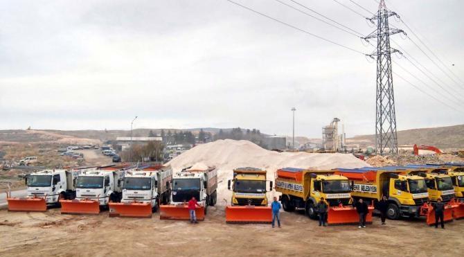 Gaziantep`te 355 kişilik karla mücadele ekibi kuruldu