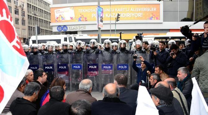 Adana`da sendika ve meslek örgütlerinin yürüyüşüne izin verilmedi