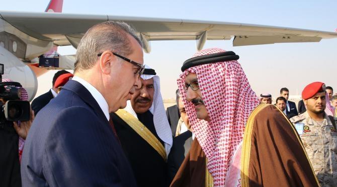 Cumhurbaşkanı Erdoğan Suudi Arabistan`da (FOTOĞRAFLAR)