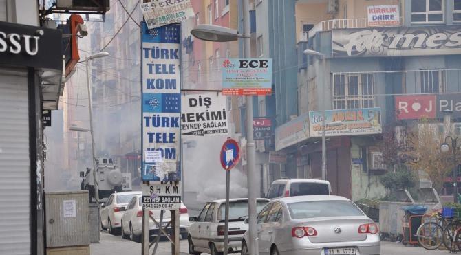Kızıltepe`de yürüyüşe polis müdahalesi