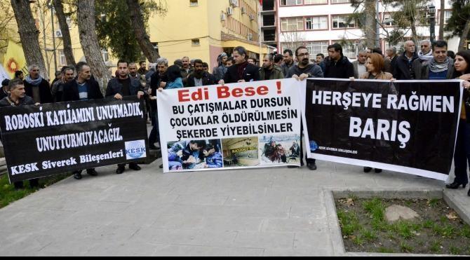 Eğitim- Sen, Siverek`te Uludere olayını protesto etti