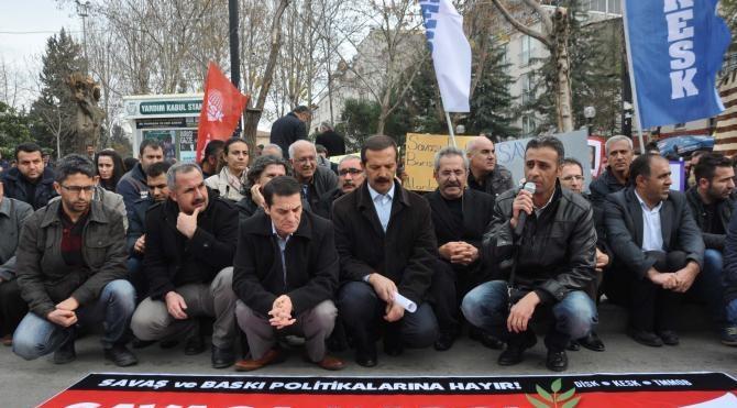 Adıyaman´da sokağa çıkma yasakları protesto edildi