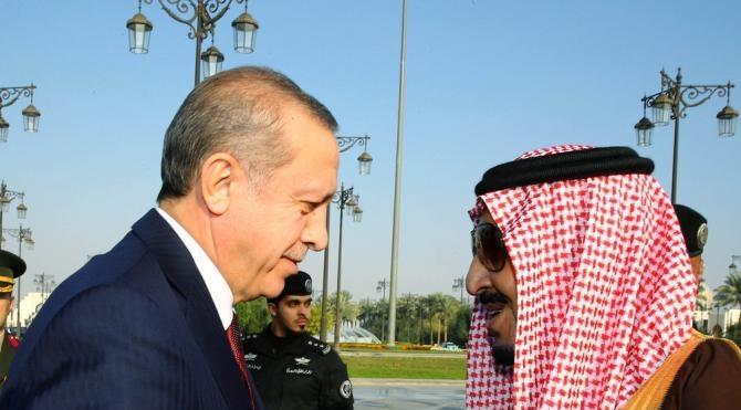 Cumhurbaşkanı Erdoğan, Suudi Arabistan`da resmi törenle karşılandı