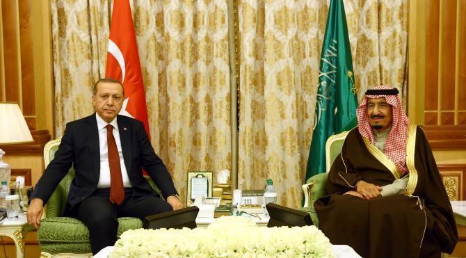 Cumhurbaşkanı Erdoğan, Suudi Arabistan Kralı Selman ile görüştü (2)