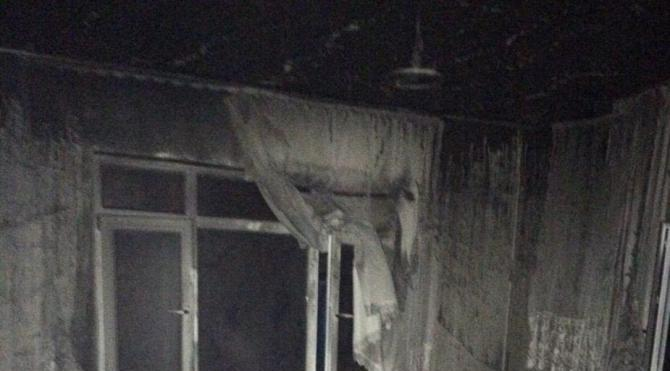 Yangında evde mahsur kalan kadın öldü