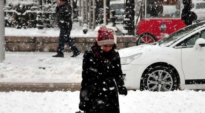 Tokat`ta kar yağışı