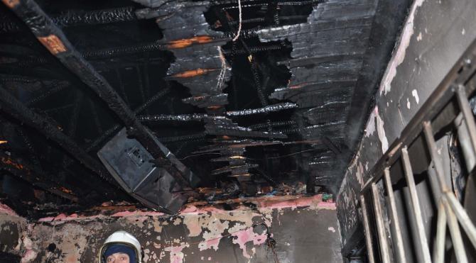 Suriyeliler`in kaldığı evde yangın çıktı