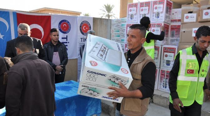 TİKA`nın yardımları Türkmenleri sevindirdi