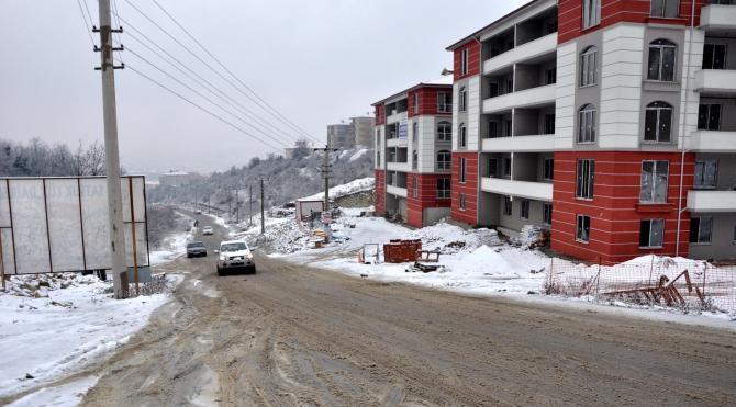 Bartın`da kar etkili oldu