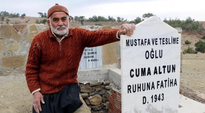 Ölmeden arazisine mezarını yaptı
