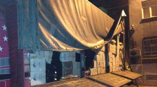 Kilis`te 189 bin paket kaçak sigara ele geçirildi