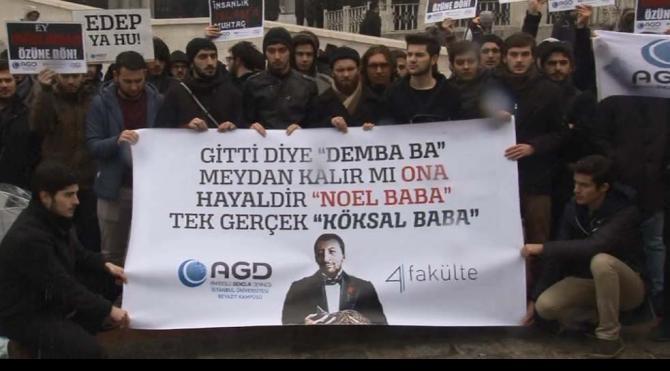 Beyazıt`ta yılbaşı protestosu