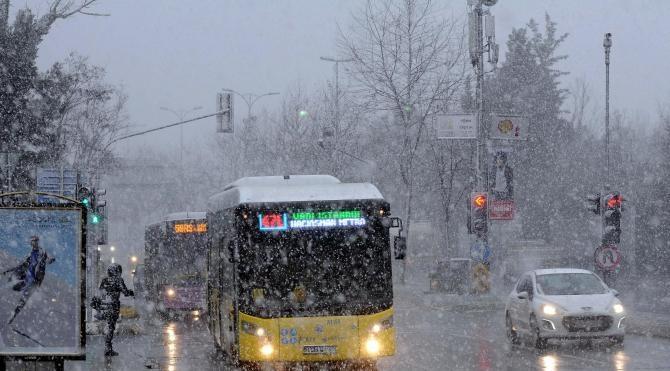 Ek İstanbul`da kar yağışı