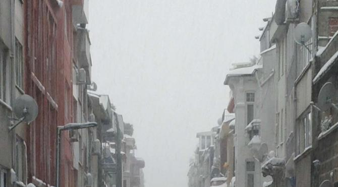 İstanbul`da kar yağışı