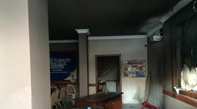 Ak Parti`nin mahalle teşkilatı binasına molotoflu saldırı