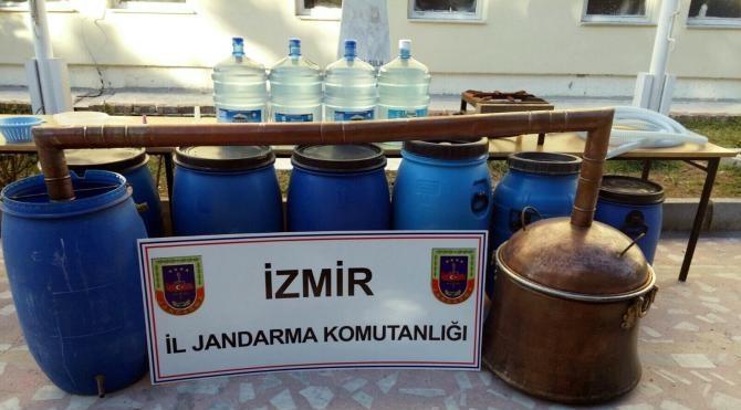 Torbalı`da kaçak içki imal eden 2 kişi yakalandı