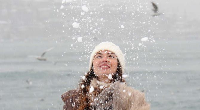 Kar kimine eğlence, kimine çile oldu