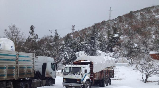 Manisa`da kar yağışı etkili oldu –
