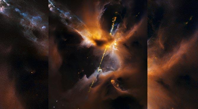 Hubble teleskobundan bir yıldızın 'uyanışı'