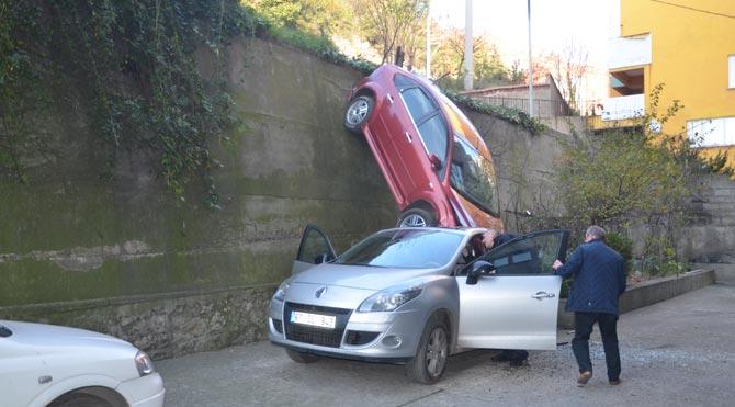 Zonguldak'ta fıkra gibi kaza!