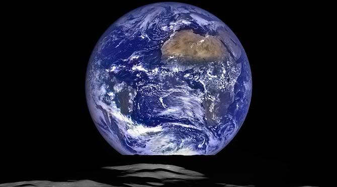 NASA, Ay üzerinden çekilen dünya görüntüleri yayınladı
