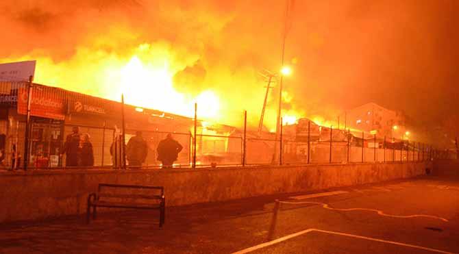 Ankara'daki iş merkezinde büyük yangın