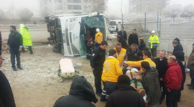 Ankara'da öğrenci servisi kazası