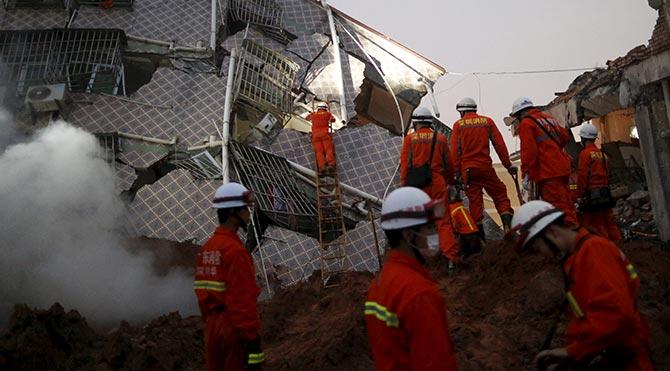 Çin'deki heyelanda kayıp sayısı 91'e çıktı