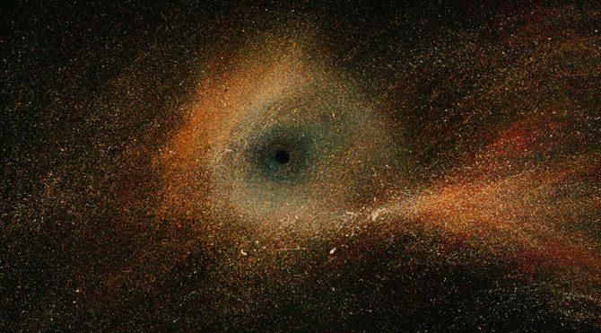 İranlı ressam, uzayı ve kara delikleri ele alıyor