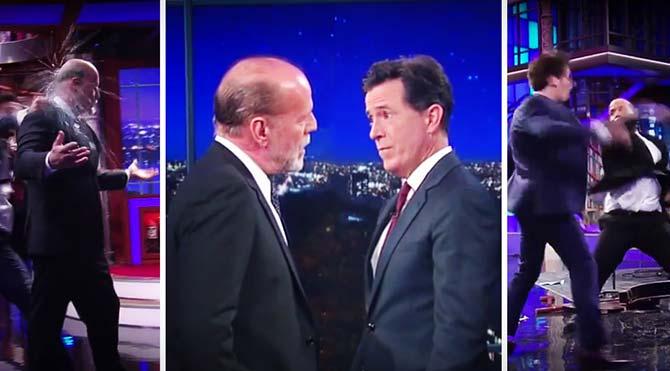 Bruce Willis canlı yayında yumruk yumruğa kavga etti