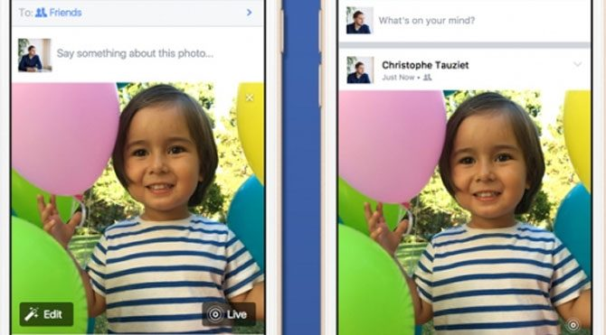 Facebook'a 'Live Photos' desteği