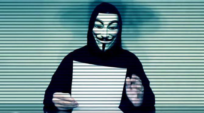 Siber saldırıyı Anonymous üstlendi