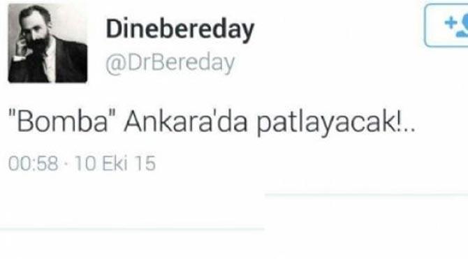 'Bomba Ankara'da patlayacak' paylaşımı yapan kişi tahliye edildi