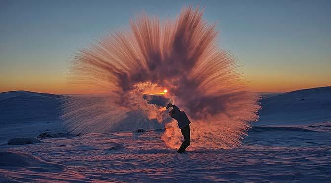 Eksi 40 derecede sıcak çay dökerseniz ne olur?