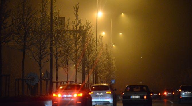 Başkent sise teslim oldu!