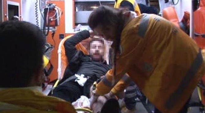 Polisi bıçakladı bacağından vuruldu!