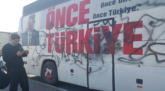 CHP otobüsüne ikinci saldırı!