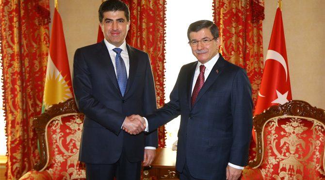 Davutoğlu oğul Barzani ile görüştü