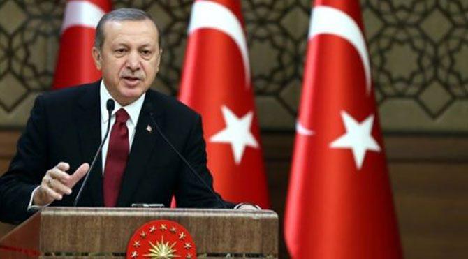 Erdoğan'dan tekbir eşliğinde konuşma