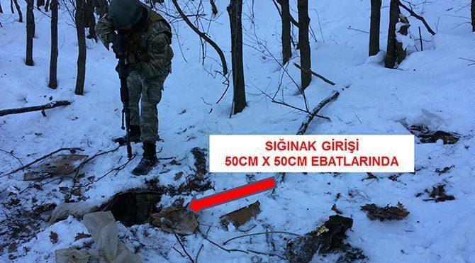 Bitlis´te PKK sığınağı ele geçirildi