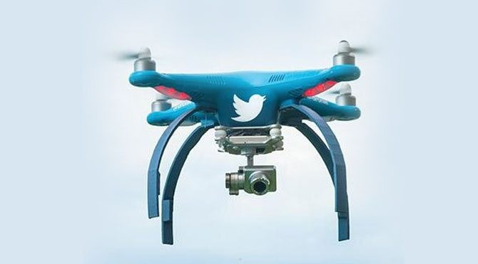 Twitter'dan drone hamlesi