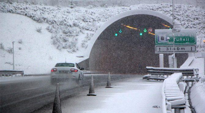 Bolu Dağı'nda kar alarmı