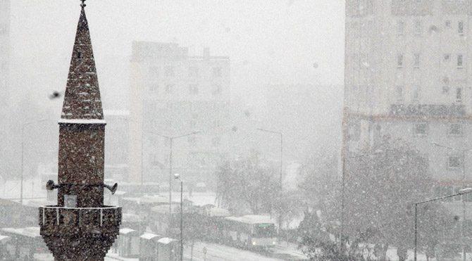 Orta Anadolu'da da kar etkili oluyor