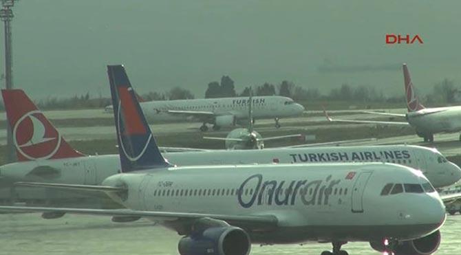228 uçak seferi iptal edildi