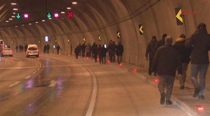 Bomonti Tüneli'nde yürüdüler