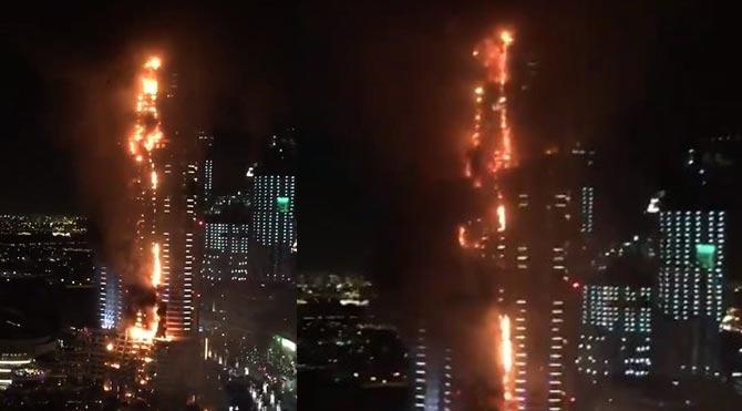 Dubai'de yangın!