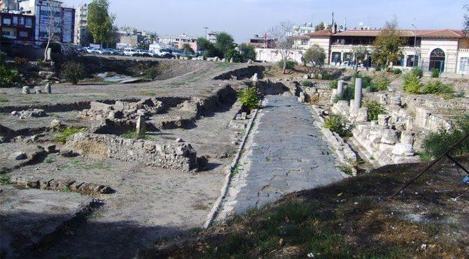 Tarsus'ta antik yol bulundu