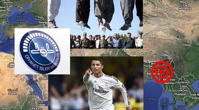 Ronaldo, İran, Diyanet, Myanmar... Bunlar hep Mars'tan...