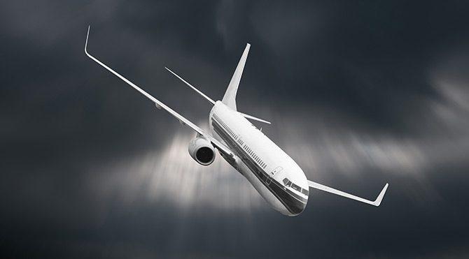 ABD uçağında korku dolu anlar!