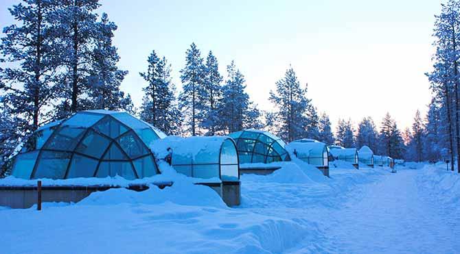 Laponya'da konaklama: BUZ OTEL VE IGLOLAR